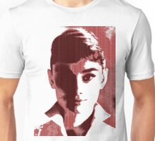 Audrey Hepburn White Shirt Portrait Red  Unisex T-Shirt