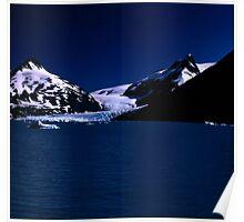 PORTAGE GLACIER , ALASKA Poster