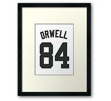 ORWELL - 84 Framed Print