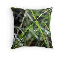 wet & Weedy Throw Pillow