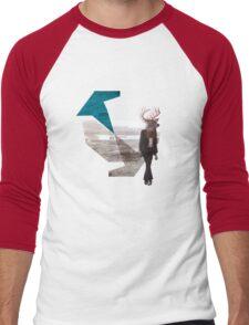 Deer over city Men's Baseball ¾ T-Shirt