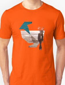 Deer over city Unisex T-Shirt