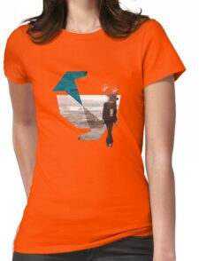 Deer over city Womens Fitted T-Shirt
