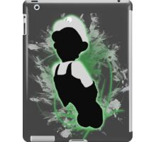 Super Smash Bros. White/Fire Luigi Silhouette iPad Case/Skin
