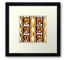 Gold Chainz Framed Print