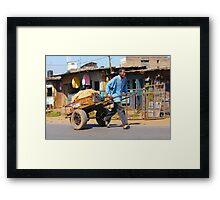 Transport Service in Nairobi, KENYA Framed Print