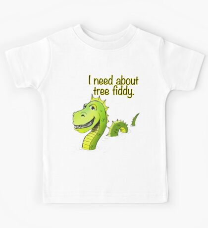 Loch Ness Monster Tree Fiddy Kids Tee