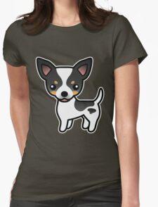 White Tricolor Smooth Coat Chihuahua Cartoon Dog T-Shirt