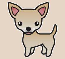 Fawn Smooth Coat Chihuahua Cartoon Dog by destei