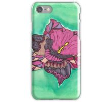 Zentangle orchid iPhone Case/Skin