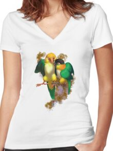 Caique Love Women's Fitted V-Neck T-Shirt