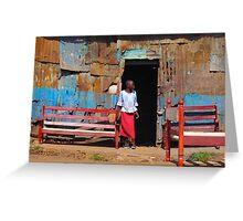 Furniture shop in Nairobi, KENYA Greeting Card