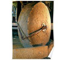 Grain Grinding Wheel. Woolmers Estate, Longford, Tasmania. Poster
