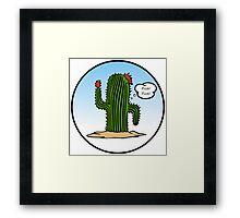 Spanish Cactus Framed Print