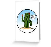 Spanish Cactus Greeting Card