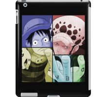 one piece straw hat monkey d luffy trafalgar law anime manga shirt iPad Case/Skin