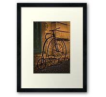 Penny Farthing, Oamaru, New Zealand. Framed Print