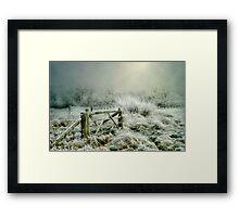Heavy Frost Framed Print