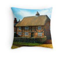 Arty Cottage Throw Pillow