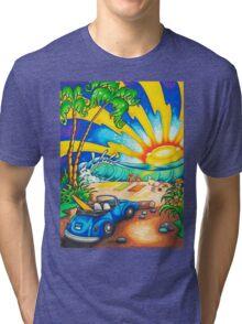 Surf Sunset Tri-blend T-Shirt