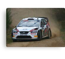 Ford Focus - rally car Canvas Print
