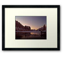 Frozen Loch Ard, Scotland. Framed Print