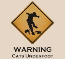 Cats Underfoot Warning Sign by tartanphoenix