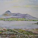 Croagh Patrick in watercolour by Joe Trodden