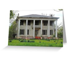 Old Plantation Home Greeting Card
