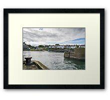 Craster Harbour. Framed Print