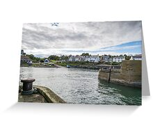 Craster Harbour. Greeting Card