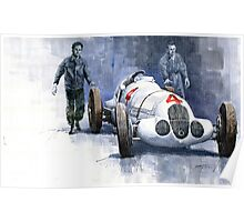 MB W125 GPcar 1937 Poster
