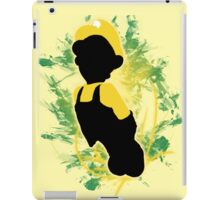 Super Smash Bros. Yellow Luigi Silhouette iPad Case/Skin