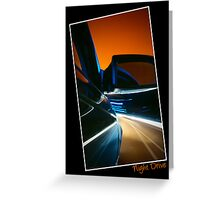 Nightdrive - driving into an evening sky Greeting Card