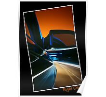 Nightdrive - driving into an evening sky Poster