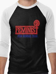 Feminist for bernie sanders 2016 Men's Baseball ¾ T-Shirt