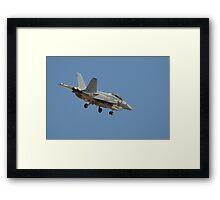 U.S. Navy F/A-18 Hornet Framed Print