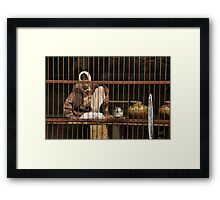 The water man, India Framed Print