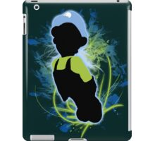 Super Smash Bros. Blue/Green Luigi Silhouette iPad Case/Skin