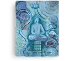 Eithne Sweeney Art, buddha sitting tranquil Canvas Print
