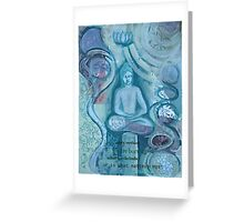 Eithne Sweeney Art, buddha sitting tranquil Greeting Card