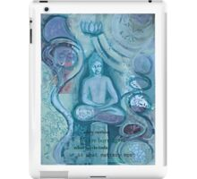 Eithne Sweeney Art, buddha sitting tranquil iPad Case/Skin