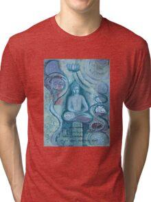 Eithne Sweeney Art, buddha sitting tranquil Tri-blend T-Shirt