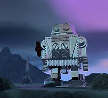 A Robot Moon Walker by mdkgraphics