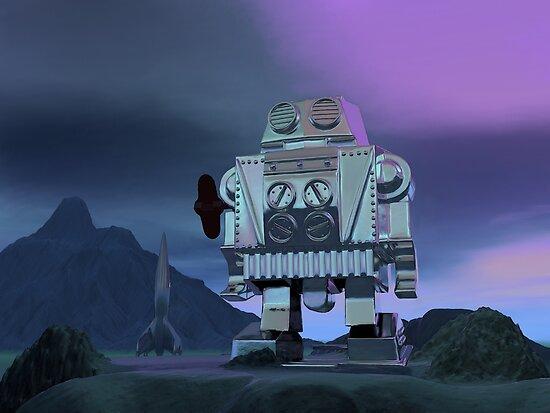 A Robot Moon Walker by mdkgraphics