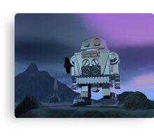 A Robot Moon Walker Canvas Print