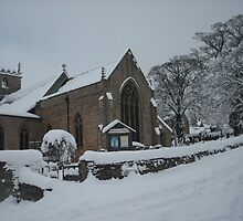Church in the snow by ANDREW BARKE
