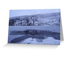 Mirror River, River Orchy Greeting Card