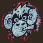 Monkey t-shirt by GraffArt Tees