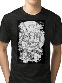 Mind  Wandering in the Cafe Tri-blend T-Shirt